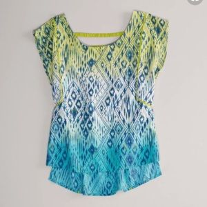 ❤️EUC American Eagle Outfitters Ikat top size L
